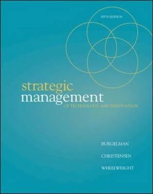 Cover of Strategic Management of Technology and Innovation
