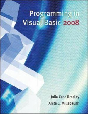 Cover of Programming in Visual Basic 2008