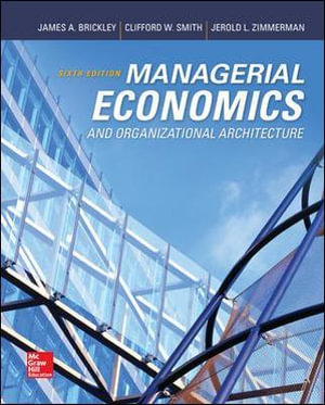 Cover of Managerial Economics & Organizational Architecture