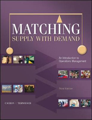 Cover of Matching Supply with Demand: An Introduction to Operations Management