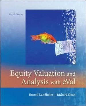 Cover of Equity Valuation and Analysis w/eVal