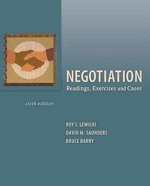 Cover of Negotiation: Readings, Exercises, and Cases
