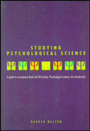 Cover of Studying Psychological Science