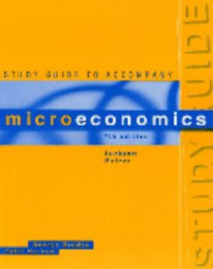 Cover of Study Guide to Accompany Microeconomics, Seventh Edition, Jackson, McIver