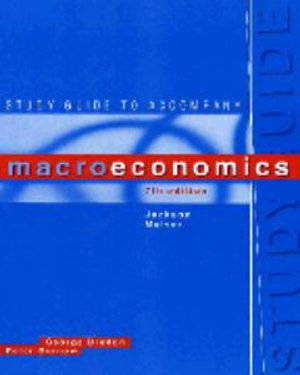 Cover of Study Guide to Accompany Macroeconomics, Seventh Edition, Jackson, McIver