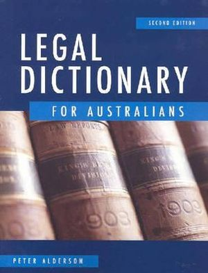 Cover of Legal Dictionary for Australians