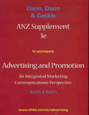 Cover of ANZ Supplement