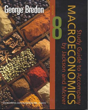 Cover of Study Guide to Accompany Macroeconomics, by Jackson and McIver, Edition 8