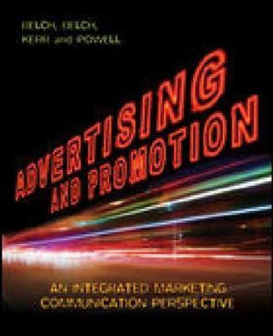 Cover of Advertising and Promotion: An Integrated Marketing Communication Perspective