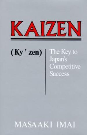 Cover of Kaizen (Ky'zen), the key to Japan's competitive success