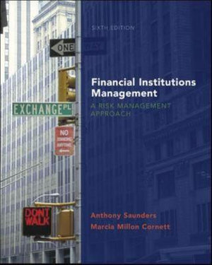 Cover of Financial Institutions Management: A Risk Management Approach with S&P Card