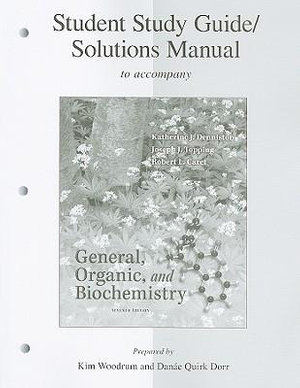 Cover of Student Study Guide/Solutions Manual General, Organic & Biochemistry