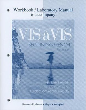 Cover of Workbook/Lab Manual to accompany Vis-à-vis: Beginning French