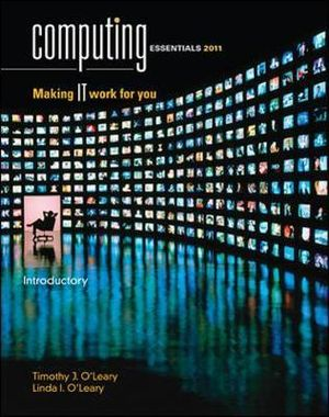 Cover of Computing Essentials 2011 Introductory Edition