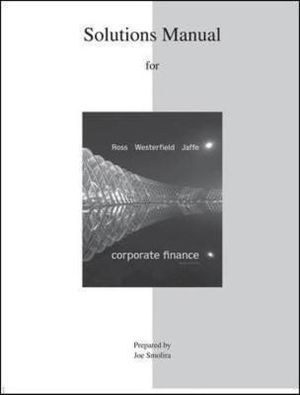 Cover of SOLUTIONS MANUAL FOR CORPORATE FINANCE