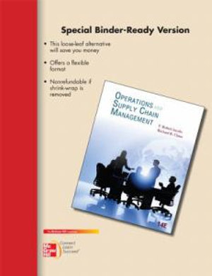 Cover of Loose-Leaf Operations and Supply Chain Management 14e