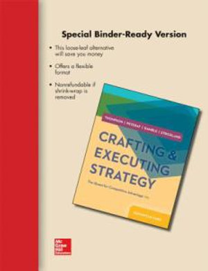 Cover of Loose-Leaf Crafting and Executing Strategy: The Quest for Competitive Advantage: Concepts and Cases