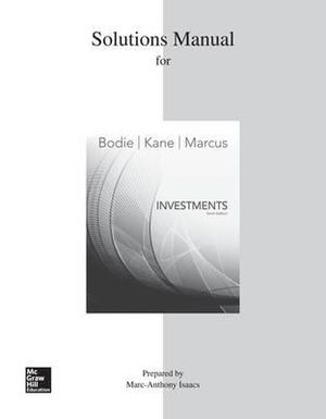 Cover of Solutions Manual for Investments