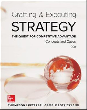 Cover of Crafting & Executing Strategy: The Quest for Competitive Advantage: Concepts and Cases