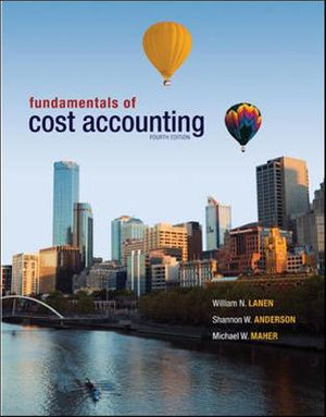 Cover of Fundamentals of Cost Accounting