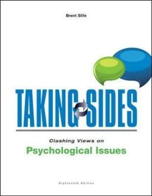 Cover of Taking Sides: Clashing Views on Psychological Issues