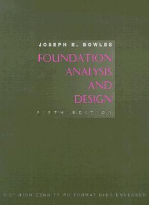 Cover of Foundation analysis and design