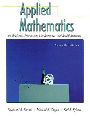 Cover of Applied Mathematics for Business, Economics, Life Sciences, and Social Sciences