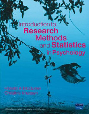 Cover of Introduction to Research Methods and Statistics in Psychology