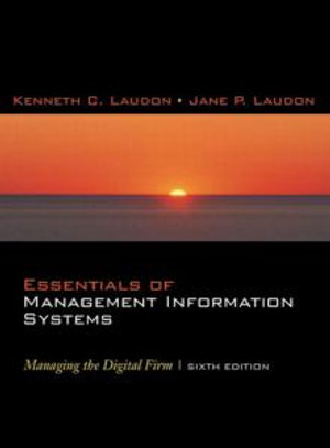 Cover of Essentials of Management Information Systems