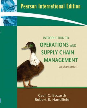 Cover of Introduction to Operations and Supply Chain Management