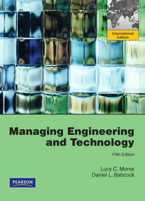 Cover of Managing Engineering and Technology