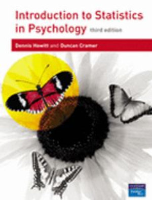 Cover of Introduction to Statistics in Psychology