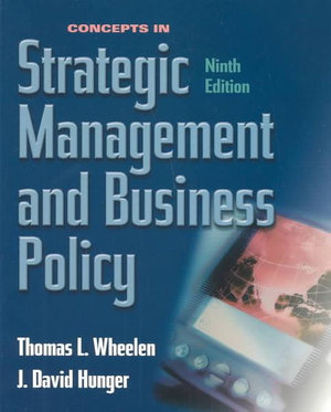 Cover of Concepts in Strategic Management and Business Policy