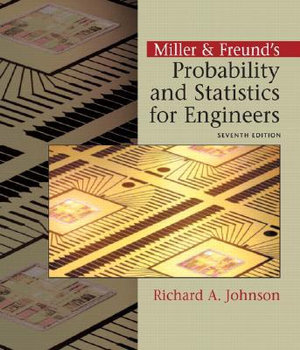 Cover of Miller & Freund's Probability and Statistics for Engineers