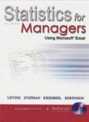 Cover of Statistics for managers using Microsoft Excel