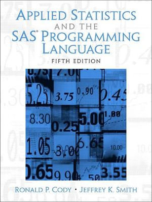 Cover of Applied Statistics and the SAS Programming Language