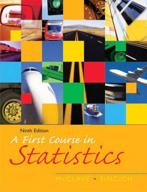 Cover of A First Course in Statistics