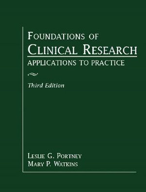Cover of Foundations of Clinical Research      Cp