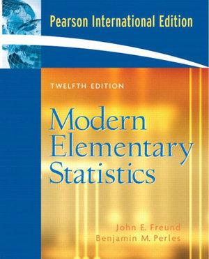 Cover of Modern Elementary Statistics