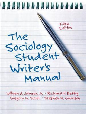 Cover of Sociology Student Writer's Manual    Cp
