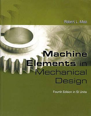 Cover of Machine Elements in Mechanical Design