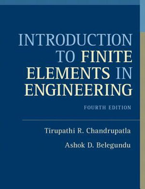 Cover of Introduction to Finite Elements in Engineering