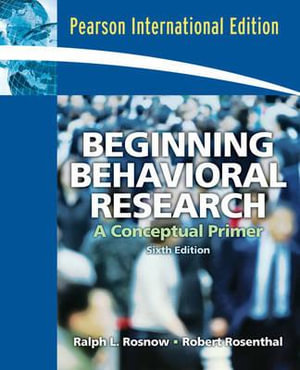 Cover of Beginning Behavioral Research
