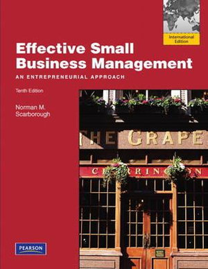 Cover of Effective Small Business Management Pearson International Education     Mechanical