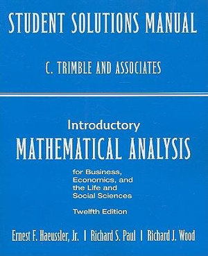 Cover of Student's Solutions Manual