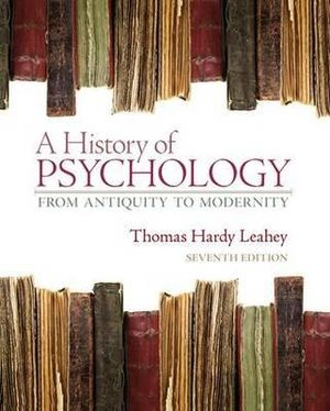 Cover of A History of Psychology