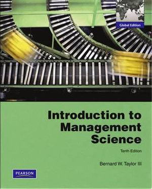 Cover of Introduction to Management Science