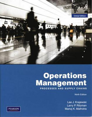 Cover of Operations Management Pie Global Ed