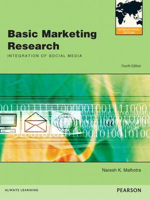 Cover of Basic Marketing Research Pearson International Edition Mechanical       Version