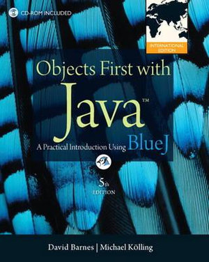 Cover of Objects First with Java: A Practical Introduction Using BlueJ Pearson   International Edition